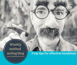 3 top tips for effective head shots