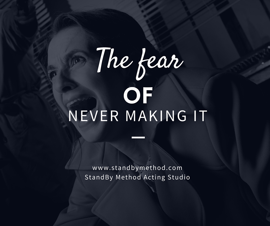 The fear of never making it